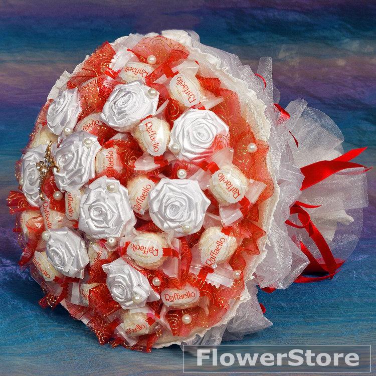 Свадебный букет из конфет рафаэлло мастер класс